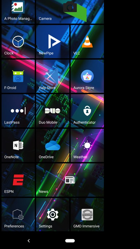 Launcher 10 now matches landscape live tiles