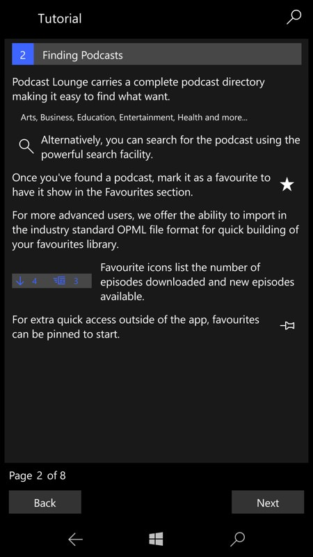 Screenshot, Podcast Lounge 2