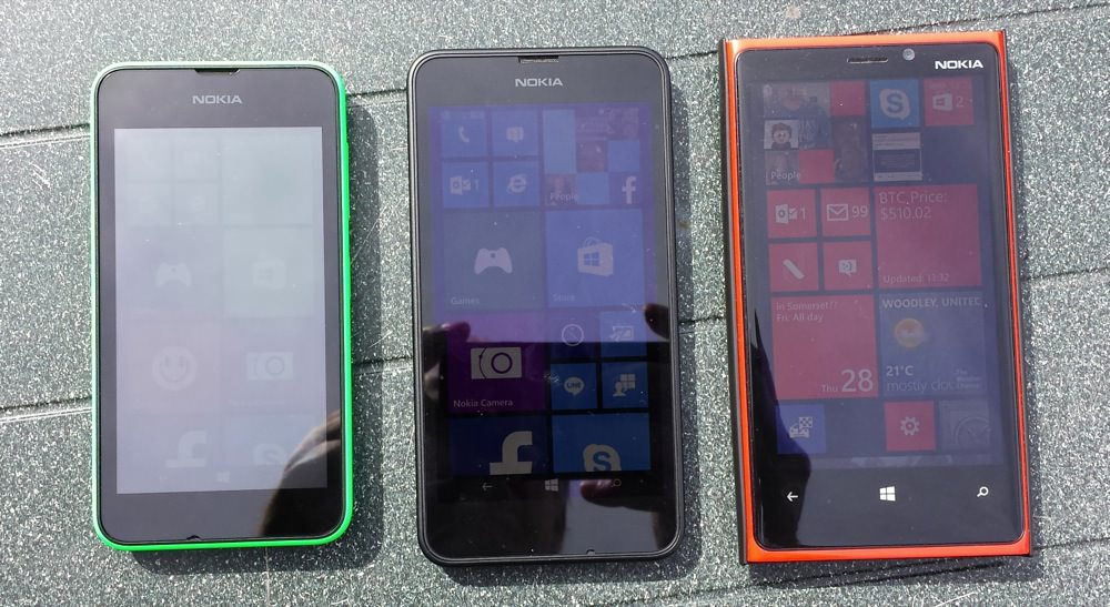 Lumia 530 sunlight visibility