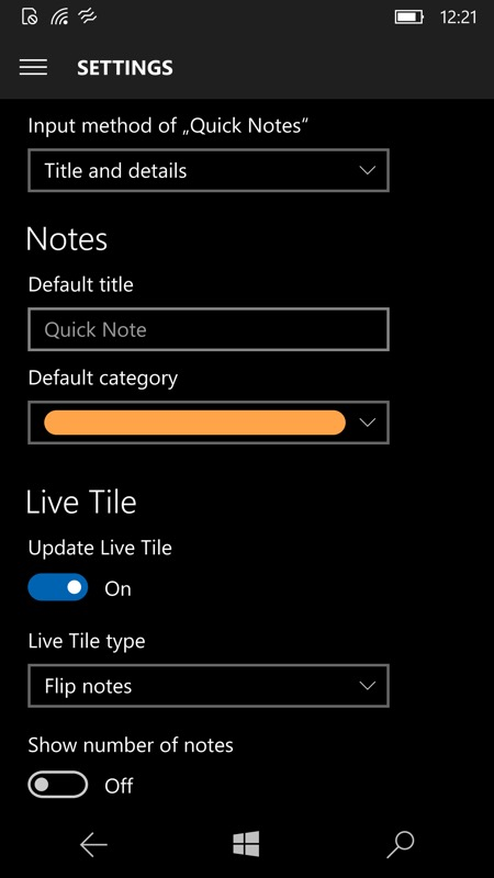 Screenshot Action Note UWP