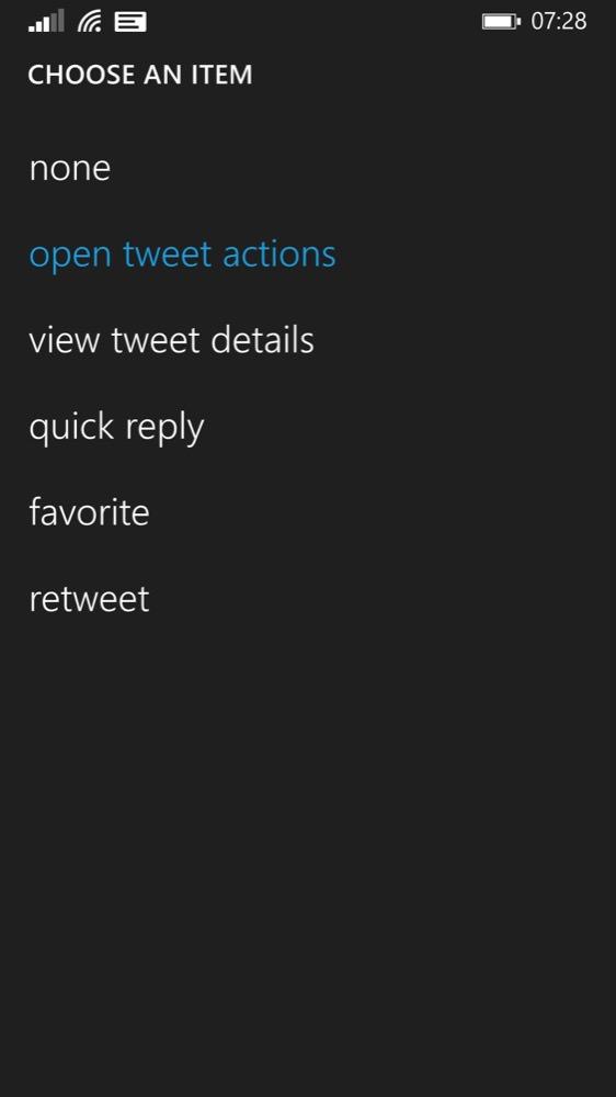 Screenshot, Aeries for Twitter