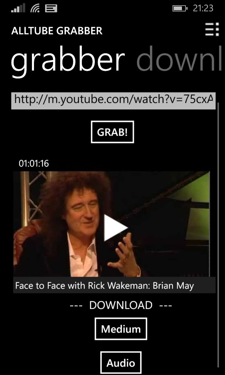 AllTube Grabber screenshot