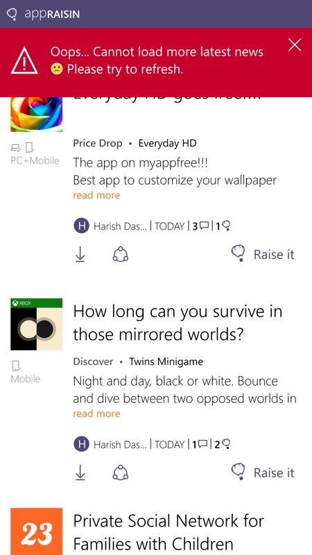 AppRaisin screenshot