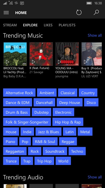 AudioCloud screenshot