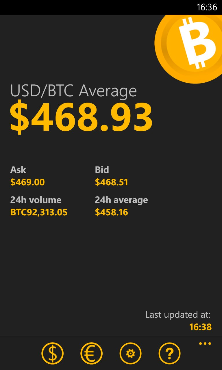 Bitcoin Average screenshot