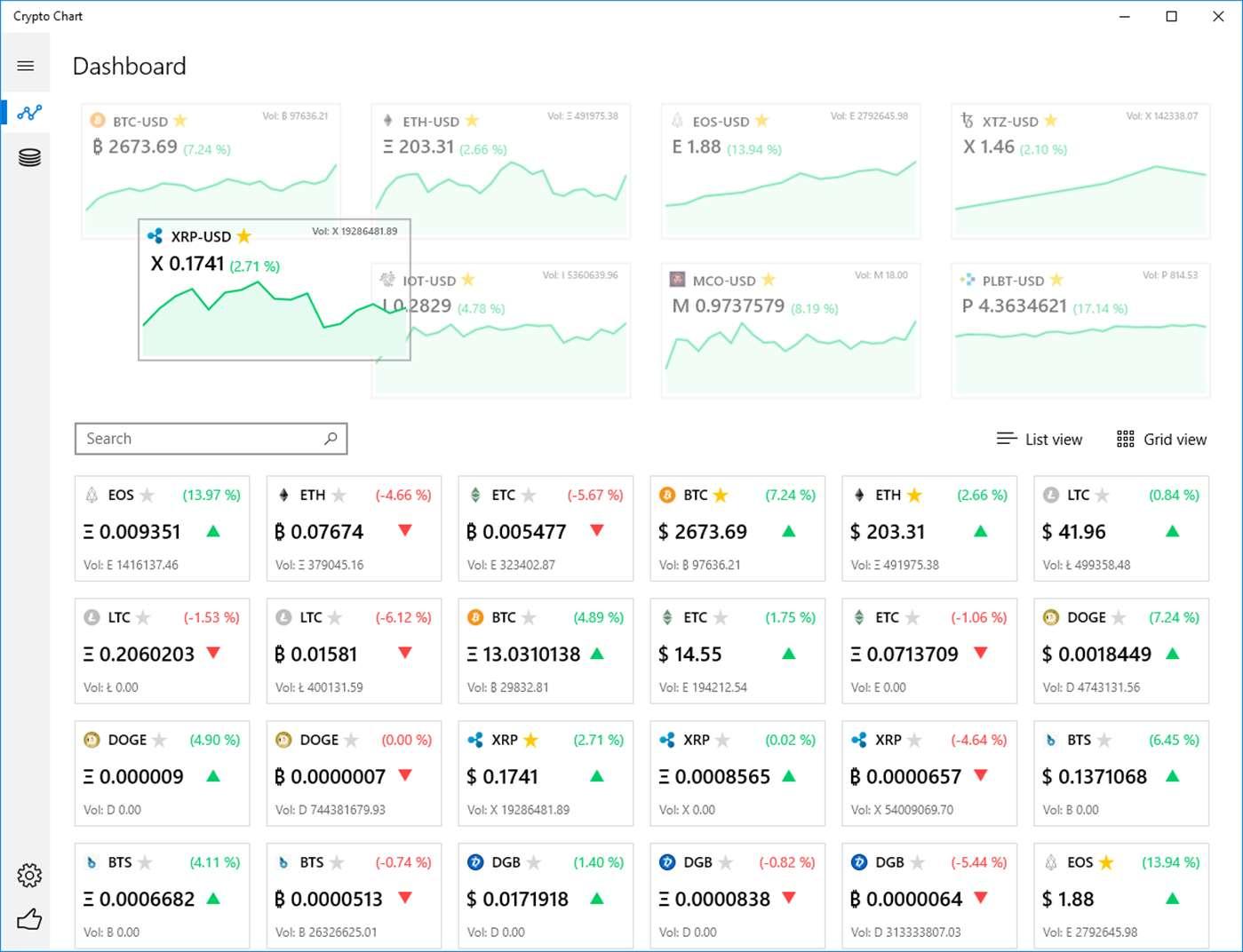 Screenshot, Crypto Chart UWP