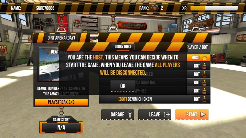 Screenshot, Demolition Derby Multiplayer UWP