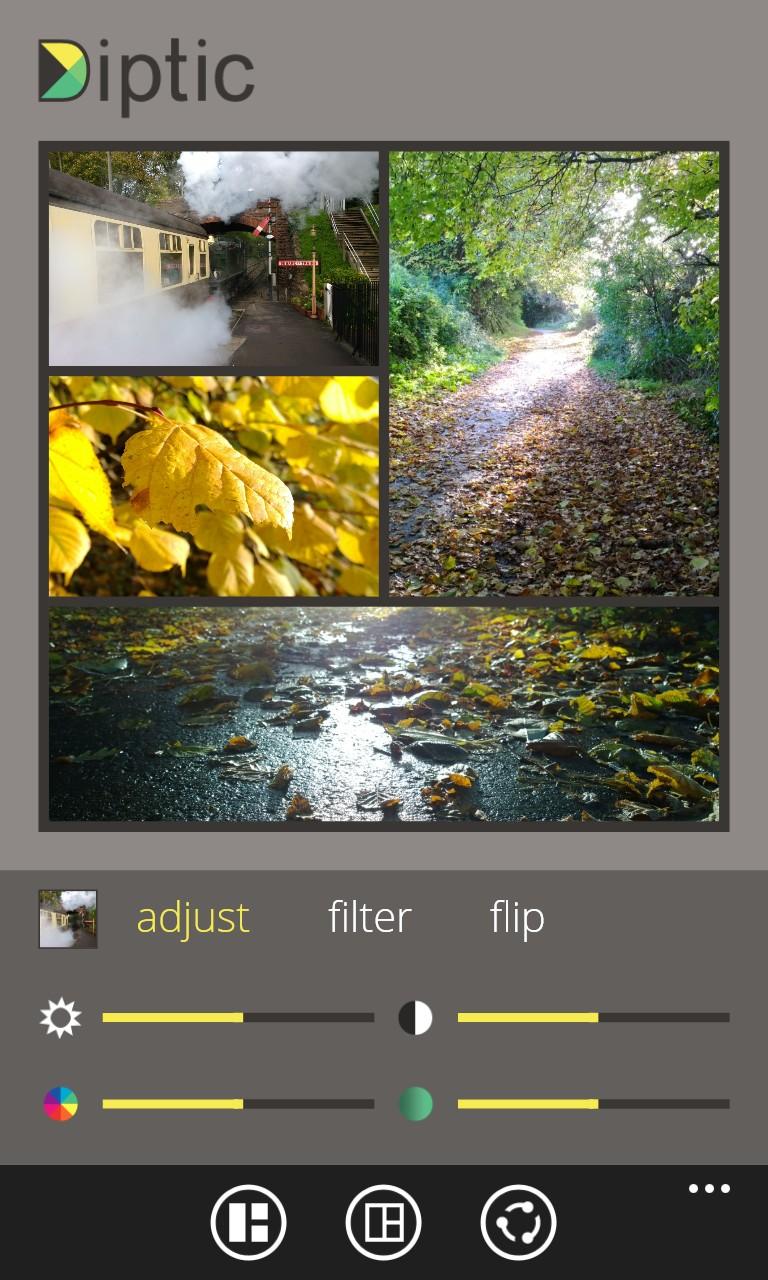 Screenshot, Diptic