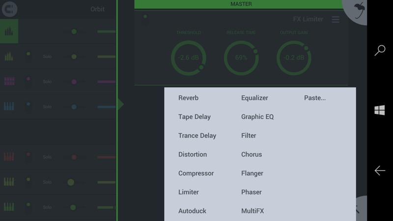 Screenshot, FL Studio Mobile 3
