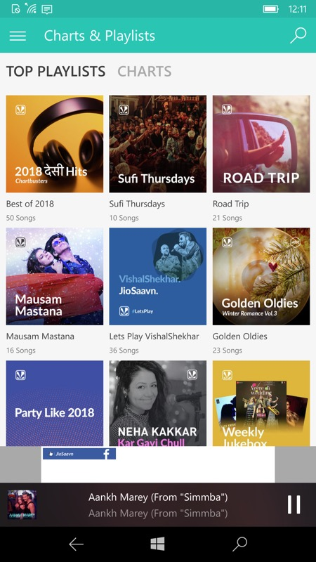 Jiosaavn UWP brings Bollywood to Windows 10 phones (and PCs)