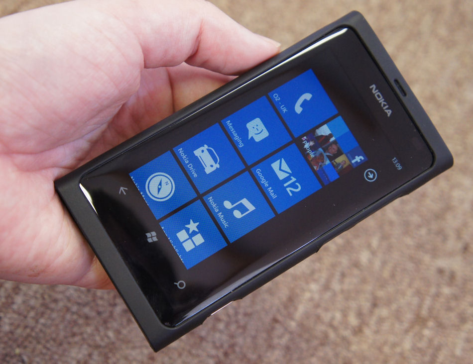Nokia Lumia 800 in case