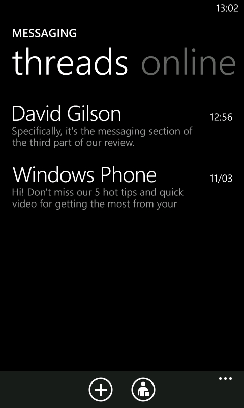 Windows Phone 7 Messaging