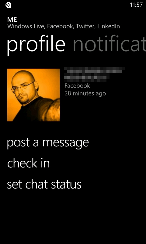 Windows Phone 7 People Hub