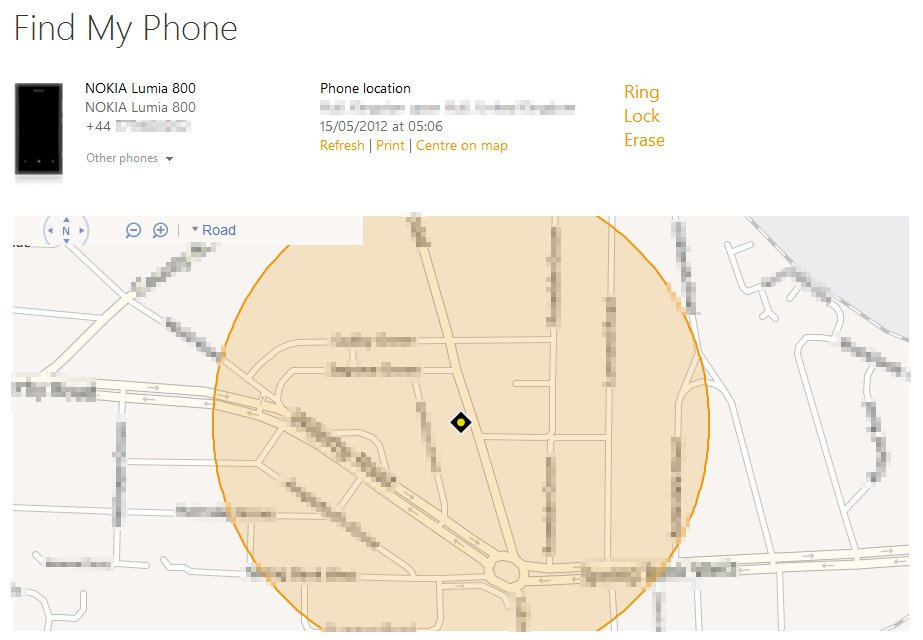 Locating a lost WP7 phone