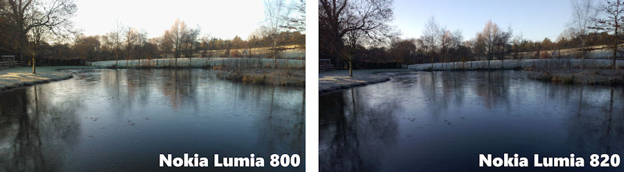 Comparison between Lumia 800 and 820