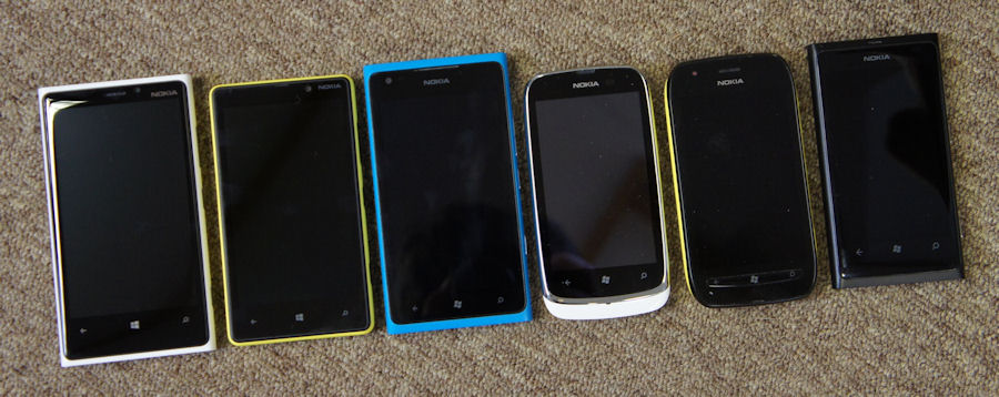 Lumia 820 family shot