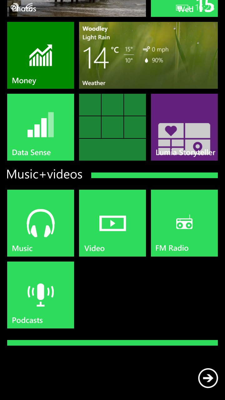Nokia Lumia 830 screenshot