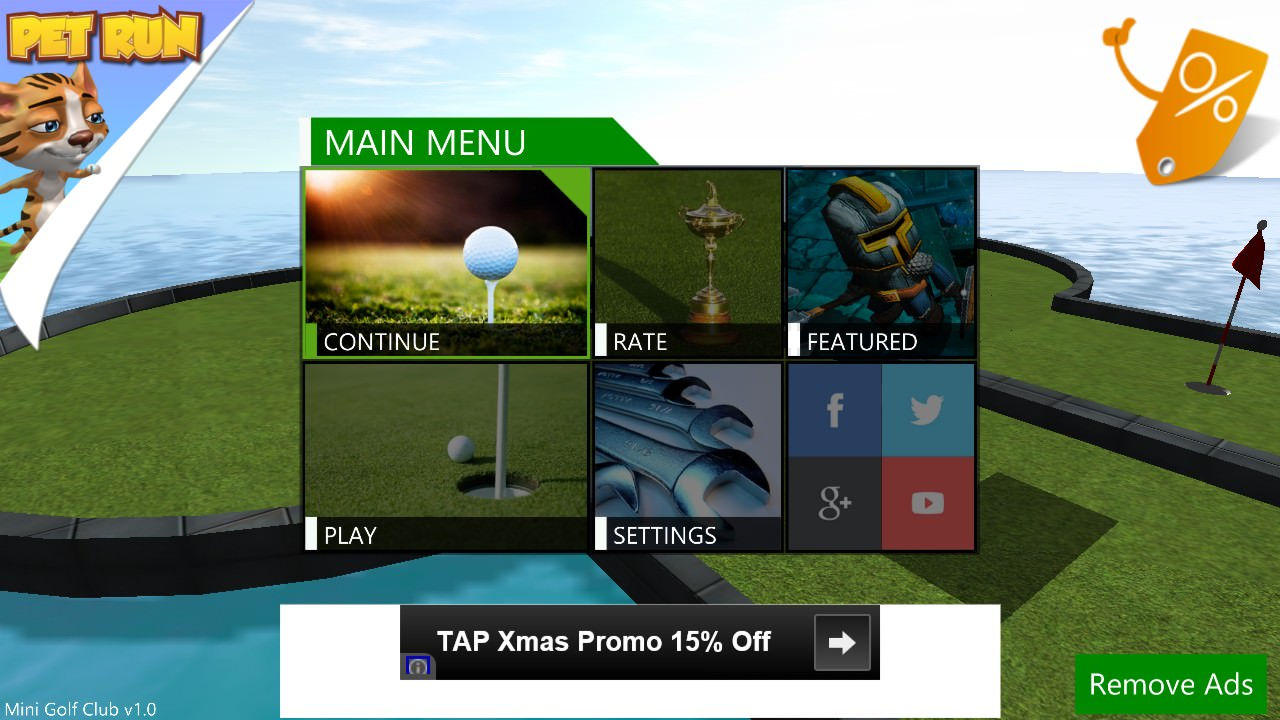 Screenshot, Mini Golf Club
