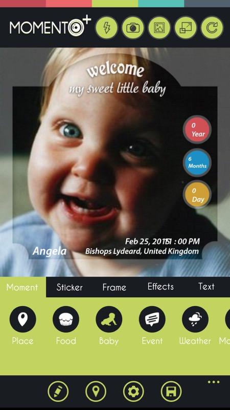 Screenshot, Momento+