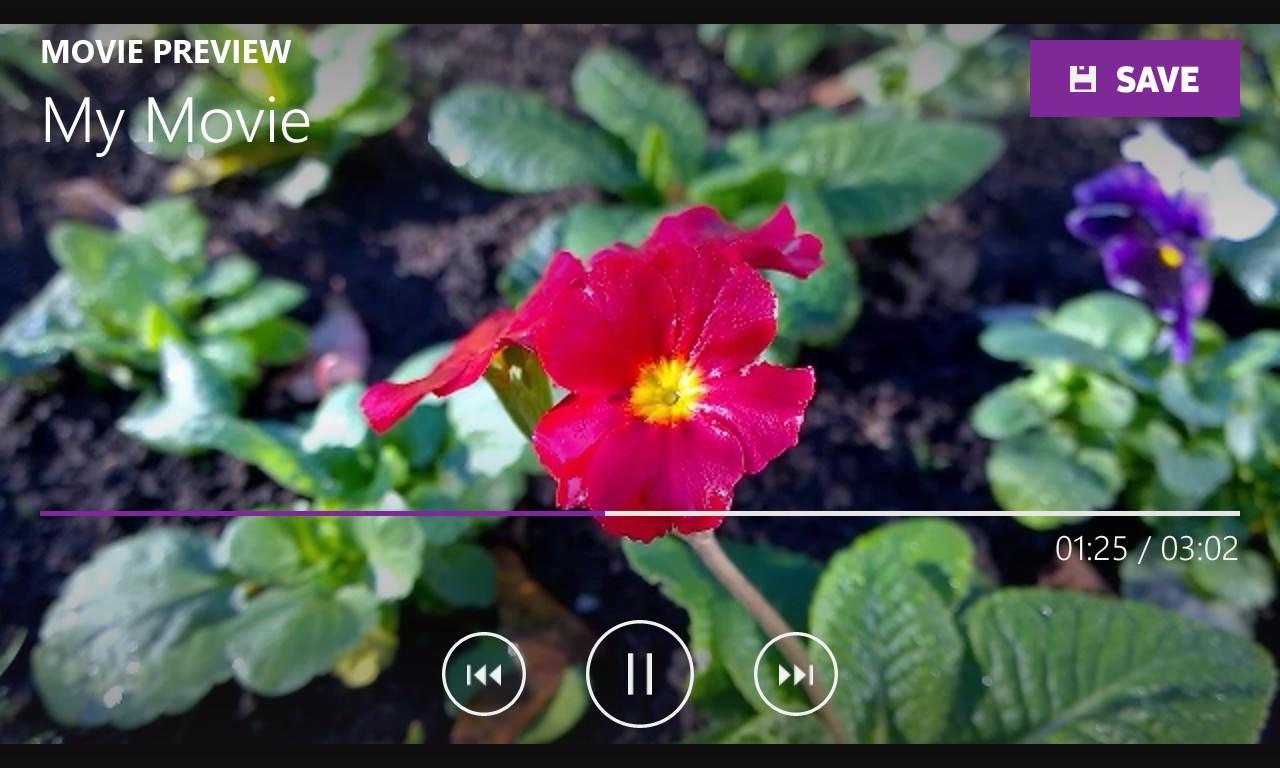 Screenshot, Movie Creator on Windows Phone
