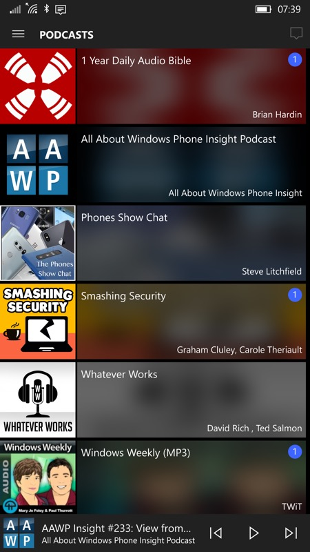 Screenshot, MyPodcasts
