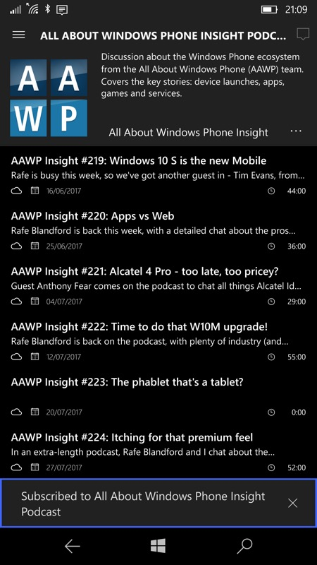 Screenshot, MyPodcasts