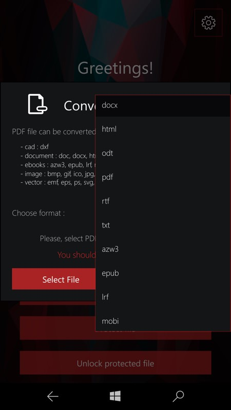 Screenshot, PDF Conversion Tool