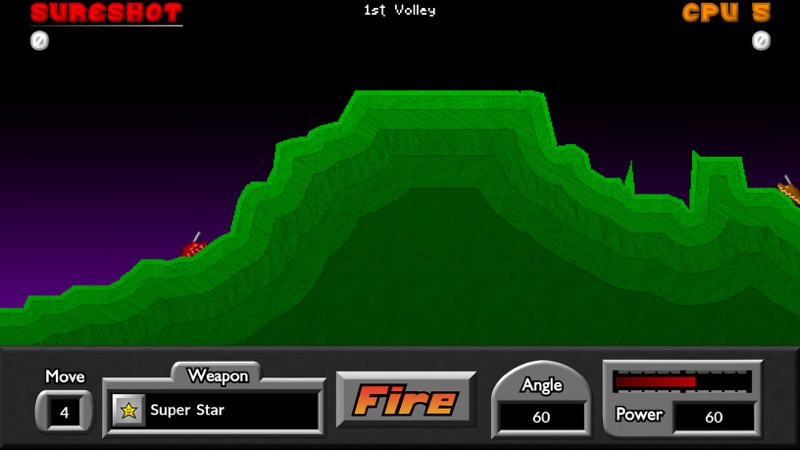 Screenshot, Pocket Tanks