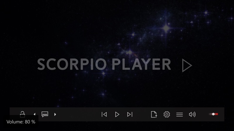 Screenshot, Scorpio Player