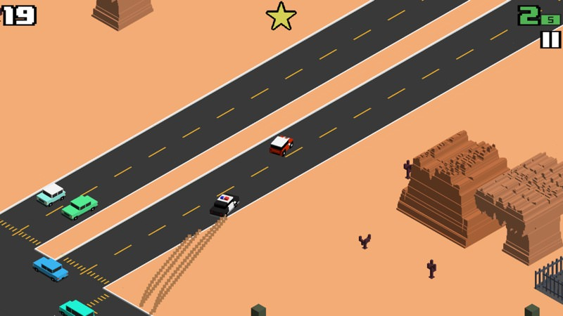 Screenshot, Smashy Road: Wanted