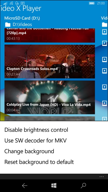 Screenshot, Video X Player Pro