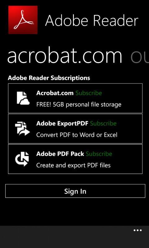 adobe acrobat phone support