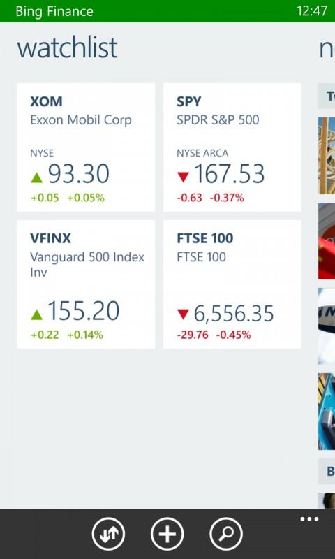 Bing Finance