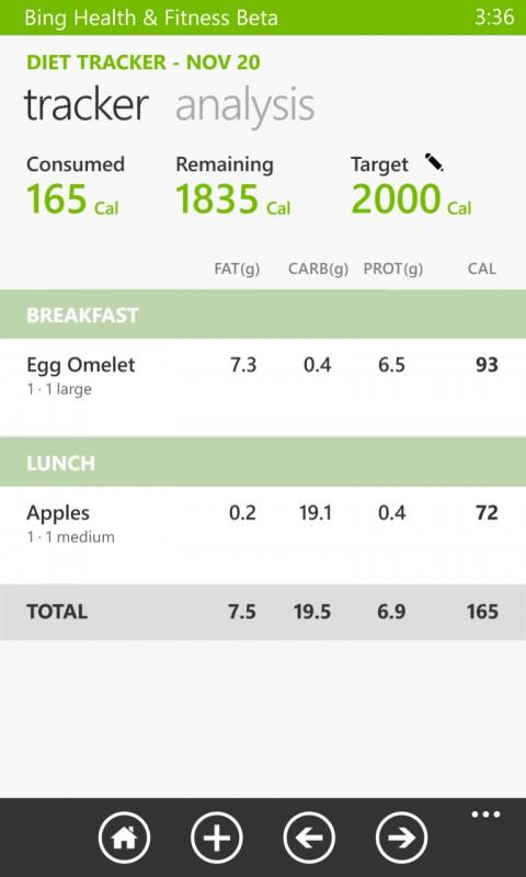 Bing Health & Fitness Beta